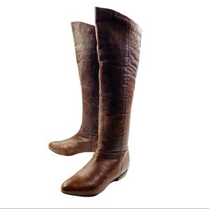Steve Madden Creation Knee Brown Leather Boots 8